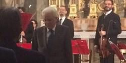 Il Presidente Mattarella al concerto dei Solisti Aquilani