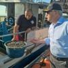 Dino Pepe in visita alla guardia costiera di Giulianova