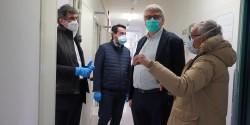 Il Presidente Marsilio in visita  al Covid Hospital di Atessa