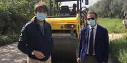 Giulianova: Sopralluogo del Sindaco Costantini e del Presidente Di Bonaventura al cantiere sulla Sp 262