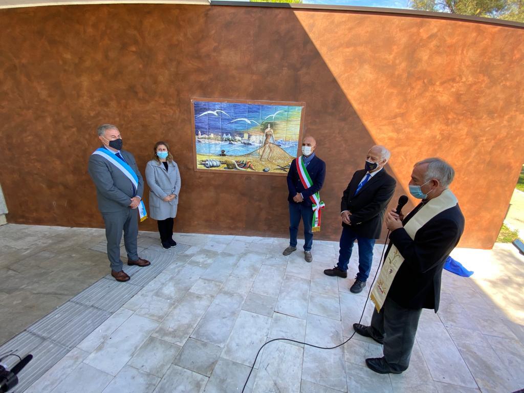 Pescara, inaugurata l'opera del maestro Cetrullo